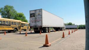 CDL Skills Test: Straight Backing at CDL College.