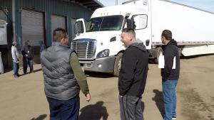 CDL College students practice the In-Cab Inspection.