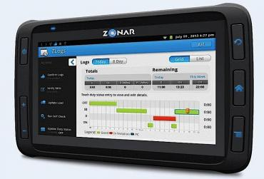 Trucking Technology Zonar Tablet